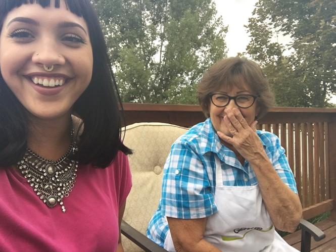 Sierra Sessions and her grandma, Linda Merrill.