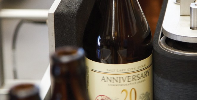 13. Freshly labeled bottle