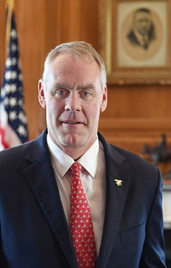 Secretary of Interior Ryan Zinke - VIA DOI.GOV