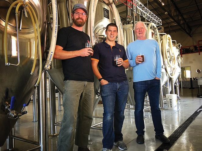 Left to right: Scott Parker, Jeremy Ford and Steve Pruitt of RPM Brewing Co. - MIKE RIEDEL