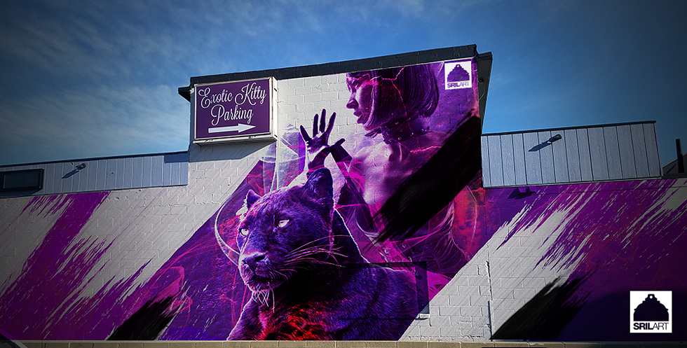 Petersen's draft for the now halted mural. - COURTESY OF THE ARTIST