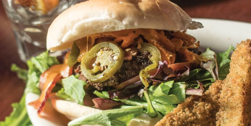 burgers at Lucky 13 - JOHN TAYLOR