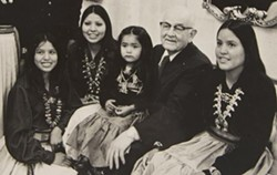 Mormon Prophet Spencer W. Kimball greets a group of Navajo women. - WAYNE PULLMAN/LDS CHURCH HISTORY COLLECTION