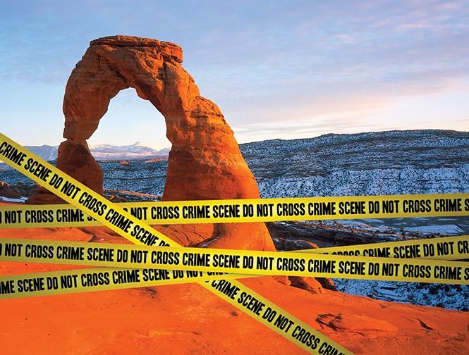 Arches inspires Scott Graham's next novel. - NPS.ORG/DEREK CARLISLE