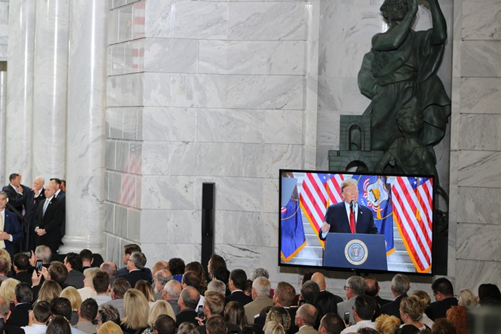 President Donald Trump's visit Dec. 4, 2017