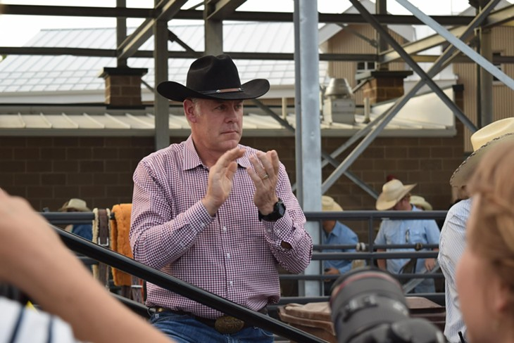 Ryan Zinke Visits Days of '47 Rodeo