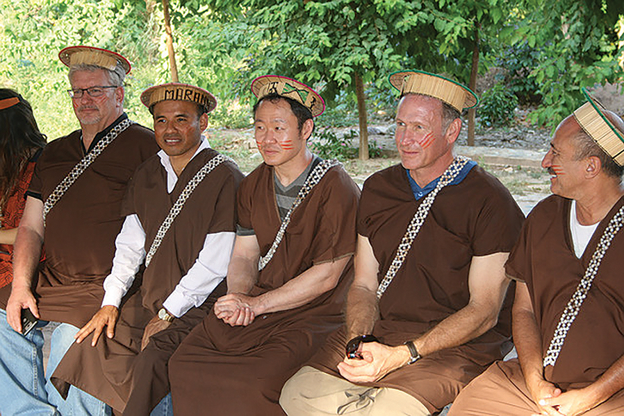 Mark Madsen, second from right, in his new home country , Peru. - COURTESY MARK MADSEN