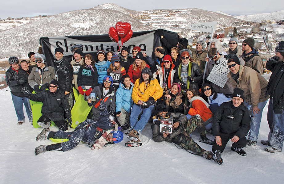 Slamdance filmmakers and crew pose at the 2006 festival. - PETER BAXTER