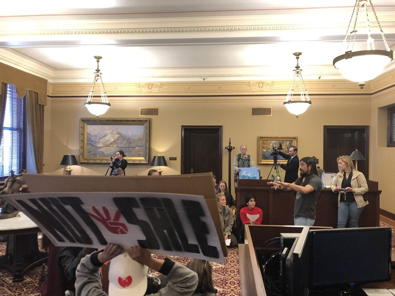 "PANDOS' Carl Moore said he heard someone in the governor's staff ask which parcels the activists were seeking to protect, in an attempt to find compromise. ""That's like asking a parent, 'Which kid do you want to keep?"" - KELAN LYONS"