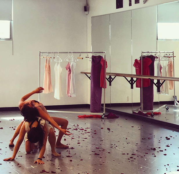 Ai Fujii Nelson and Eileen Rojas rehearse Girl Child - EMILY HAYGEMANN