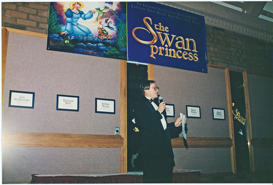 Seldon Young at the 1994 premiere of The Swan Princess. - COURTESY NEST FAMILY ENTERTAINMENT