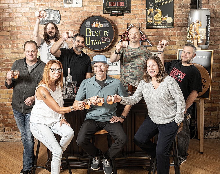 Left to Right (Top): Jason LeCates, Bourbon Group; Taylor Richards, Royal Bliss; Deno Dakis, Gracie's; Tyson Enniss, A Bar Named Sue; Rob Dutton, Lucky 13 - Left to Right (Bottom): Bridget Gordon, Green Pig Pub; Shawn Frehner, Gracie's; Kelly Petersen, The Royal - JOHN TAYLOR