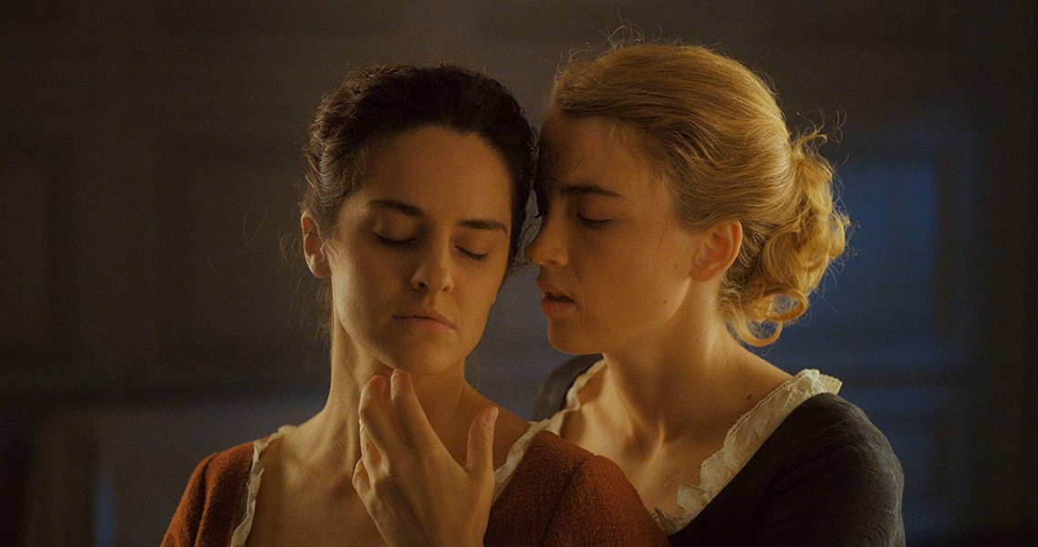 Noémie Merlant and Adèle Haenel in Portrait of a Lady on Fire - NEON FILMS
