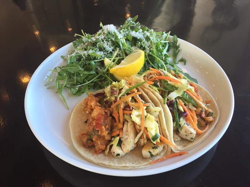Fish tacos at Current Fish & Oyster - VIA FACEBOOK/CURRENT FISH & OYSTER