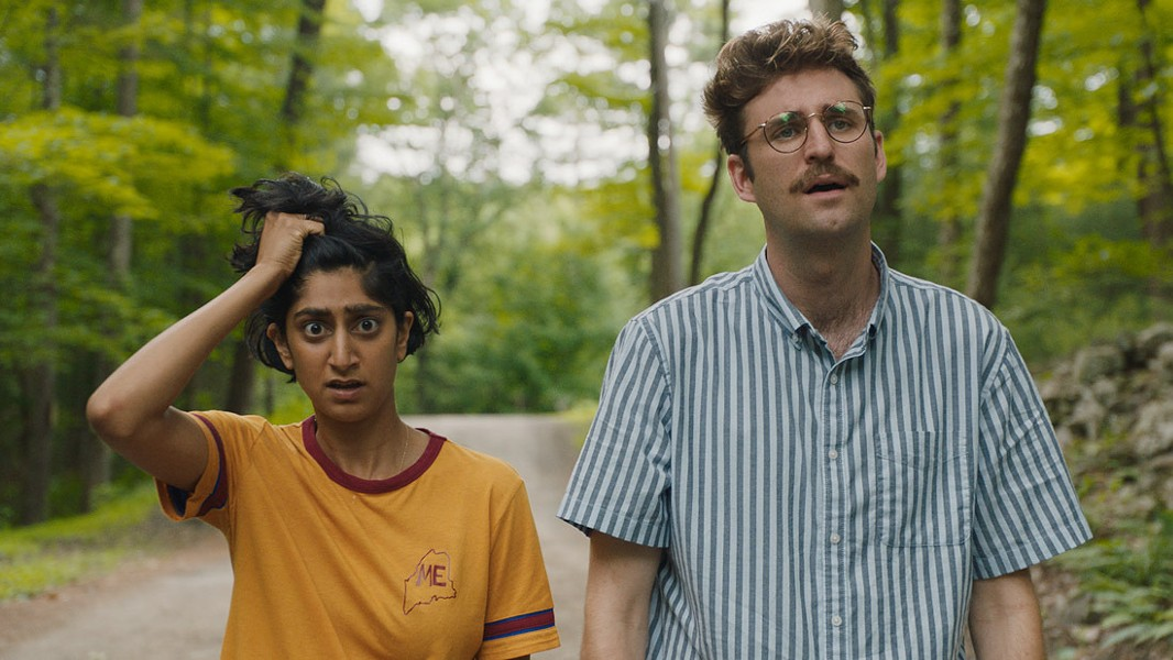 Sunita Mani and John Reynolds in Save Yourselves! - BLEECKER STREET FILMS