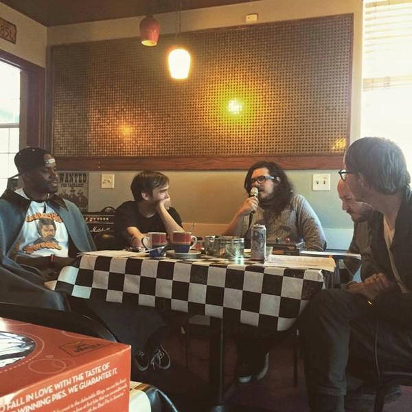 Anniversary show at Mo's Diner.  (L- R) Jay Whittaker, Jason Harvey, Aaron Orlovitz, Dustin Hagen, Levi Rounds. - SHAYNE SMITH
