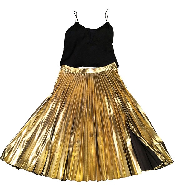 le sheer tank; Gates gold skirt - FRAME; A.L.C.