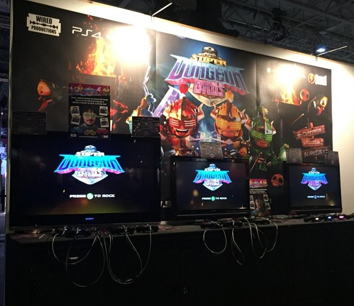 Demo games set up for EXG in London, 2015 - REACT! GAMES