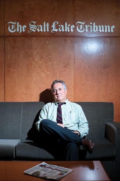 Former Salt Lake Tribune Editor Terry Orme. - NIKI CHAN