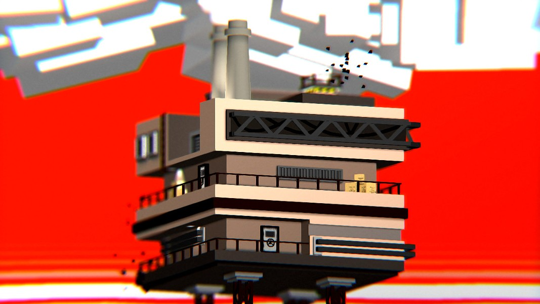 A lone factory in the middle of nowhere... seems reasonable. - ADULT SWIM GAMES
