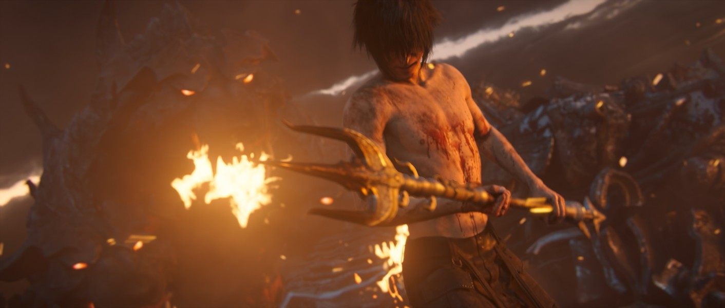 You know shit is going down when you're bare-chested and covered in blood. - SQUARE ENIX