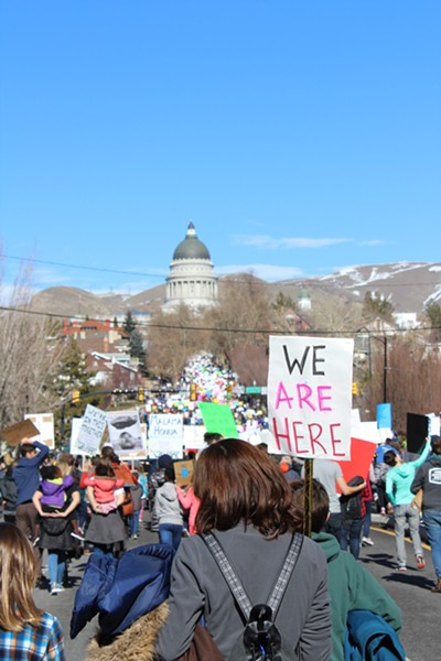 A record number of Utahns came out to support refugee rights on Saturday. - ENRIQUE LIMÓN