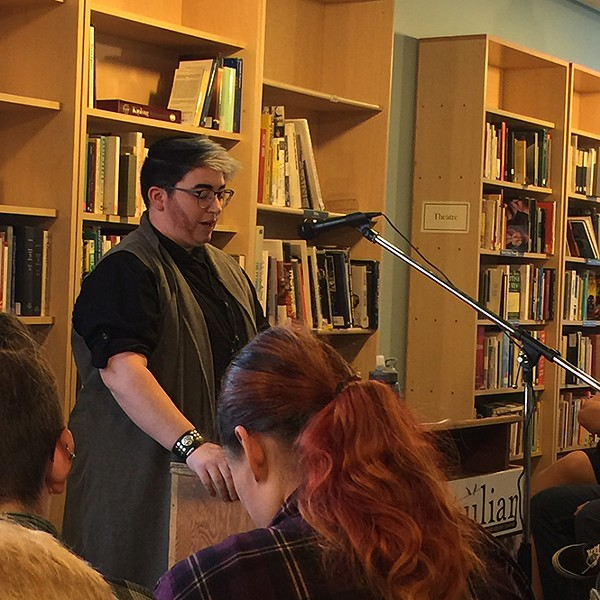 Writer Jayce Grimshaw at April 17 release event for peculiar - SPENCER BALLARD