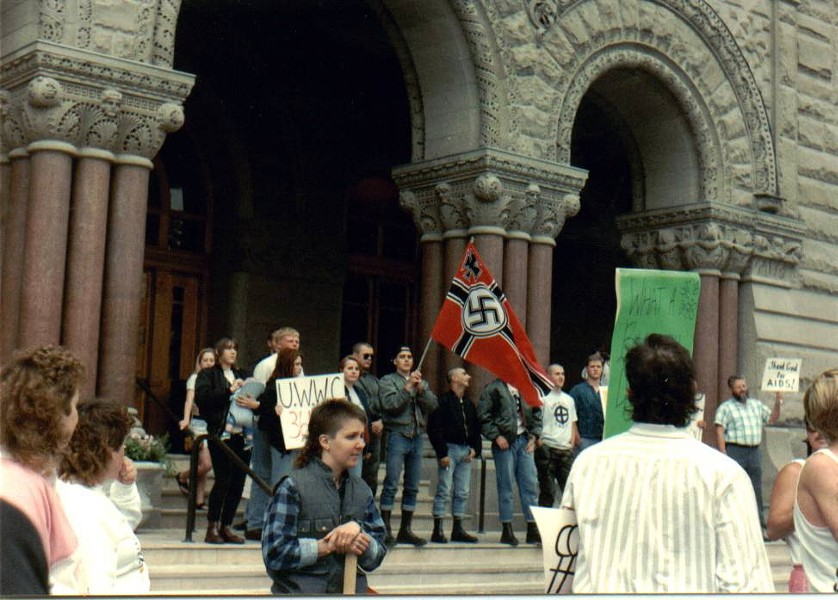 In 1991, when Pride organizers first ended the march at Washington Square, they were met by neo-Nazi protesters. - CONNELL O'DONOVAN