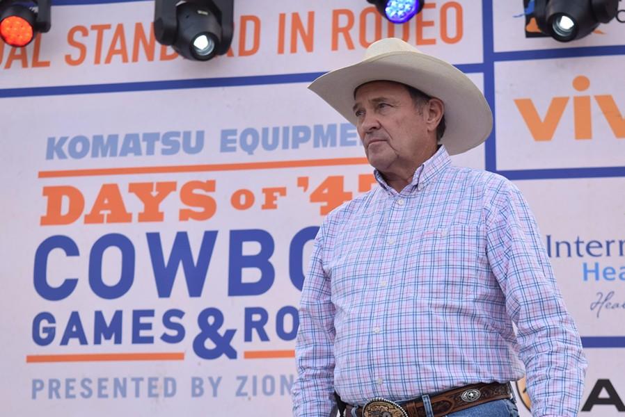 "Gov. Gary Herbert called Zinke a ""great patriot and a great friend of Utah."" - RAY HOWZE"