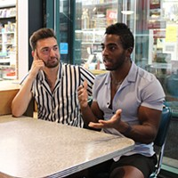 Through Masc4Masc, Trent Morrison, left, and Chris Glaittli hope to add to the local LGBTQ conversation.