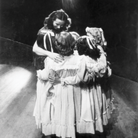 Virginia Tanner and students at Jacob's Pillow, 1953