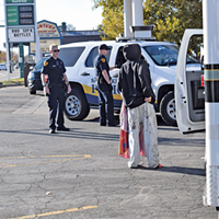 Police respond to a call regarding a homeless woman in the parking lot at 900 West and North Temple, a hotspot for illicit activity  since Operation Rio Grande started more than a year ago.