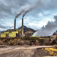 Emissions from PacifiCorp's Huntington coal-fired power plant, one of two such facilities in Utah, blow into neighboring national parks.
