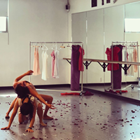 Ai Fujii Nelson and Eileen Rojas rehearse Girl Child