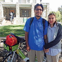 Michael and Erica Duran pictured outside the Good Samaritan House.