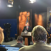 Gov. Gary Herbert addresses questions from local media during his monthly news conference inside the PBS Utah studios.