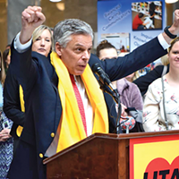 """""""We have to have an educational system in this state that brings out the genius,"""" an effusive Jon Huntsman Jr. said. """"That means choice, that means charter options, it means every good idea we can come up with."""""""