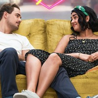 Dacre Montgomery and Geraldine Viswanathan in The Broken Hearts Gallery