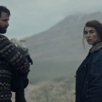 Hilmir Snӕr Guᵭnason and Noomi Rapace in Lamb