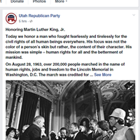 The GOP's press release on Facebook is doubly surprising not only for its failure to heed the party's style guidelines urging an immoderate and belligerent tone, but because the appearance on social media of anything cogent is a rare event.
