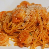 Monday Meal: Pasta with Spicy Shrimp and Tomato Sauce