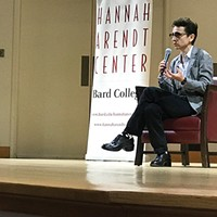 Masha Gessen during one of her participations at last month's 10th annual International Conference on Crises of Democracy at Bard College.