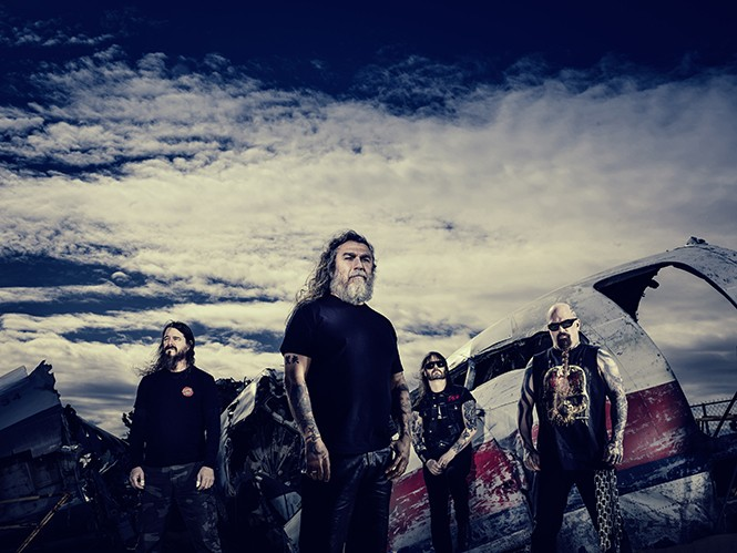 Left to right: Paul Bostaph, Tom Araya, Gary Holt and Kerry King of Slayer - MARTIN JAUSLLER