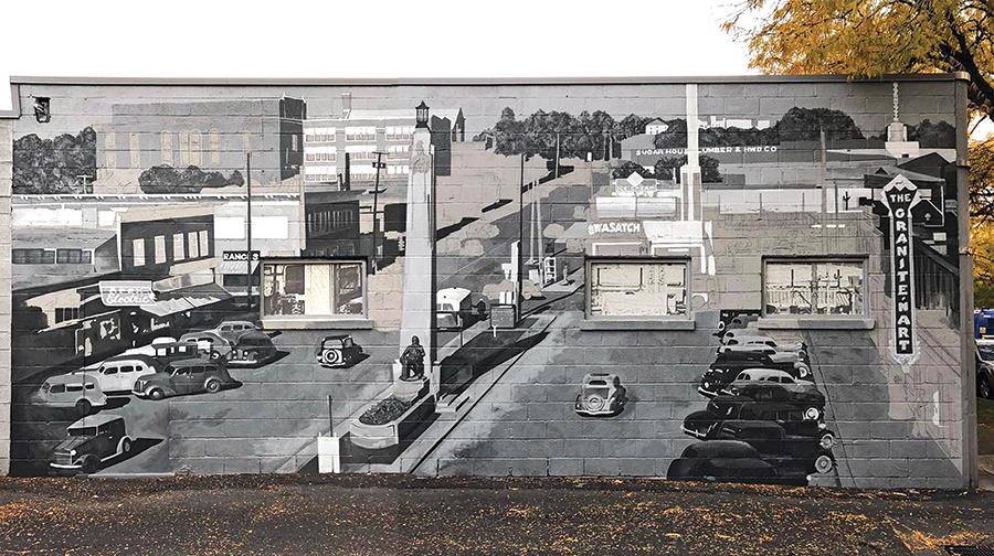 """""""Sugar House 1940"""" - mural by Josh Scheuerman - JOSH SCHEUERMAN"""