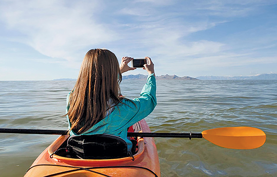 Rowing at the Great Salt Lake - JADE CLEMENT