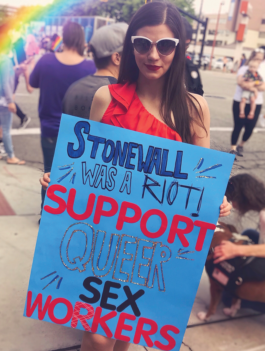 """""""Sex workers face increased rates of homicide, of rape, of assault,"""" Magdalene Collective's Kyli Rodriguez-Cayro says. """"Being a queer sex worker is more dangerous. Being a sex worker of color is more dangerous."""" - COLIN DIVELY"""