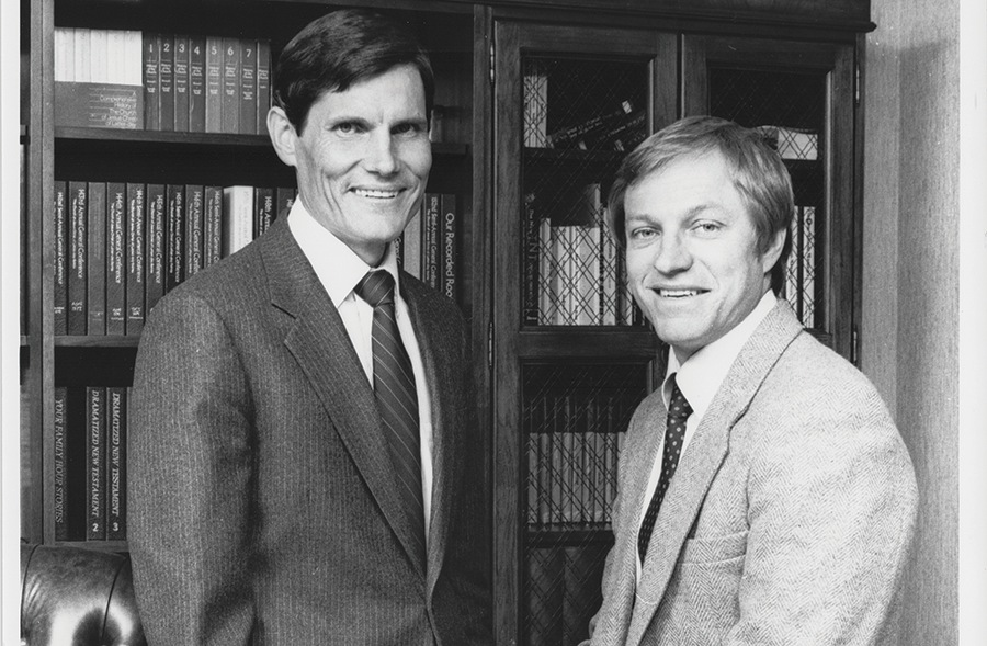 Jared Brown, left, and Seldon Young in the 1980s. - COURTESY NEST FAMILY ENTERTAINMENT