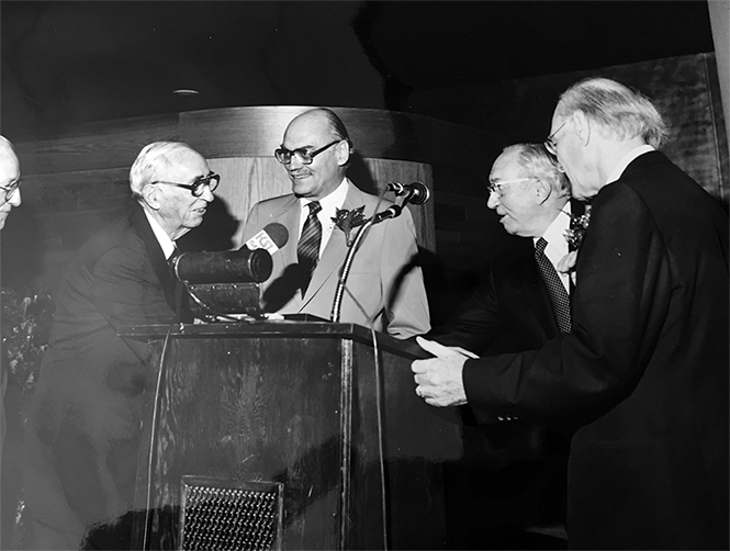 O.C. Tanner, center, at the 1979 dedication of Symphony Hall - ABRAVANEL HALL ARCHIVAL