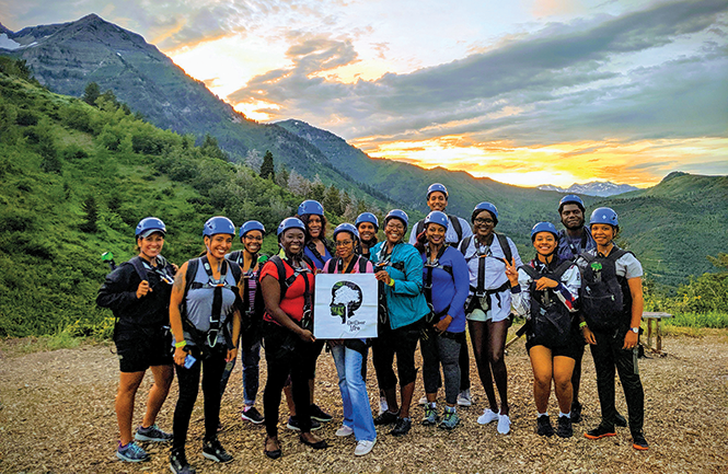 Climbing high with Outdoor Afro Salt Lake City - COURTESY PHOTO