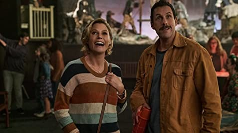 Julie Bowen and Adam Sandler in Hubie Halloween - NETFLIX
